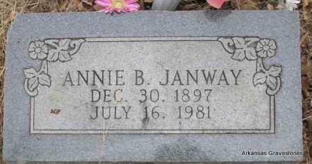 JANWAY, ANNIE B - Scott County, Arkansas | ANNIE B JANWAY - Arkansas Gravestone Photos