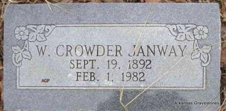 JANWAY, W CROWDER - Scott County, Arkansas | W CROWDER JANWAY - Arkansas Gravestone Photos