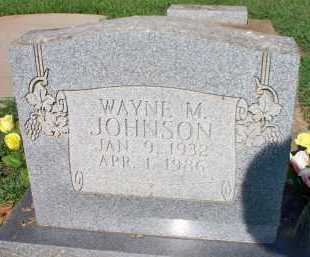 JOHNSON, WAYNE M - Scott County, Arkansas | WAYNE M JOHNSON - Arkansas Gravestone Photos