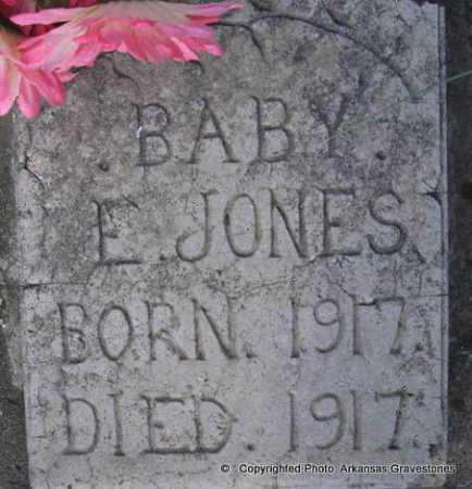 JONES, BABY E - Scott County, Arkansas | BABY E JONES - Arkansas Gravestone Photos