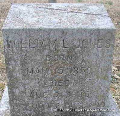 JONES, WILLIAM L - Scott County, Arkansas | WILLIAM L JONES - Arkansas Gravestone Photos