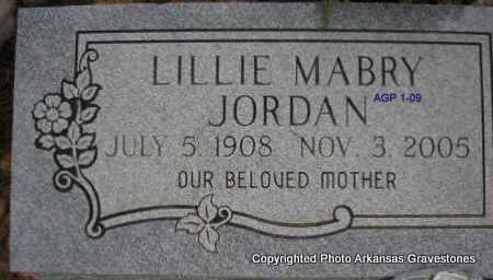 JORDAN, LILLIE - Scott County, Arkansas | LILLIE JORDAN - Arkansas Gravestone Photos