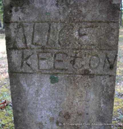 KEETON, ALICE - Scott County, Arkansas | ALICE KEETON - Arkansas Gravestone Photos