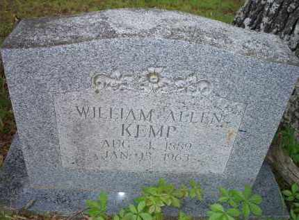 KEMP, WILLIAM ALLEN - Scott County, Arkansas | WILLIAM ALLEN KEMP - Arkansas Gravestone Photos