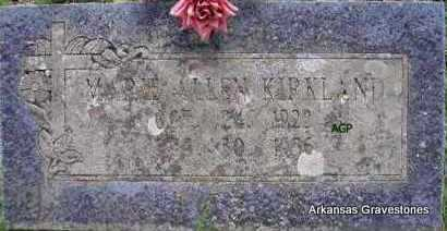ALLEN KIRKLAND, MARIE - Scott County, Arkansas | MARIE ALLEN KIRKLAND - Arkansas Gravestone Photos
