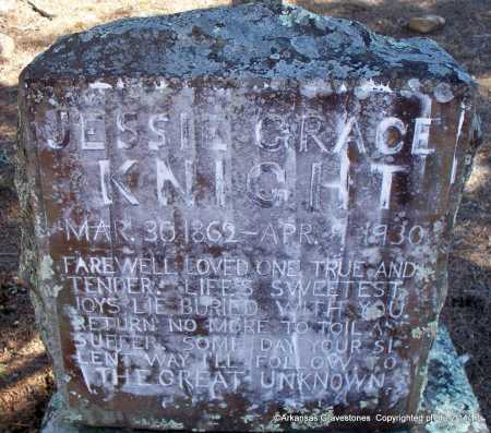 KNIGHT, JESSIE GRACE - Scott County, Arkansas | JESSIE GRACE KNIGHT - Arkansas Gravestone Photos