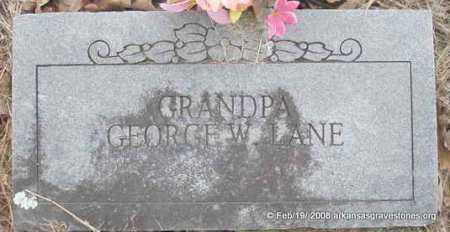 LANE, GEORGE W - Scott County, Arkansas | GEORGE W LANE - Arkansas Gravestone Photos