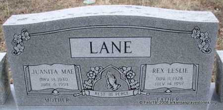 LANE, REX LESLIE - Scott County, Arkansas | REX LESLIE LANE - Arkansas Gravestone Photos