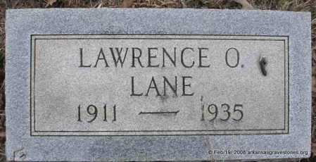 LANE, LAWRENCE O - Scott County, Arkansas | LAWRENCE O LANE - Arkansas Gravestone Photos