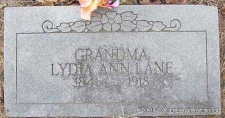 LANE, LYDIA ANN - Scott County, Arkansas | LYDIA ANN LANE - Arkansas Gravestone Photos