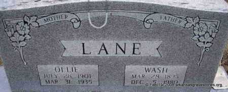 LANE, WASH - Scott County, Arkansas | WASH LANE - Arkansas Gravestone Photos