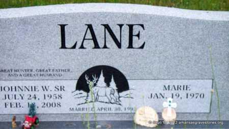 LANE, JOHNNIE W, SR - Scott County, Arkansas | JOHNNIE W, SR LANE - Arkansas Gravestone Photos