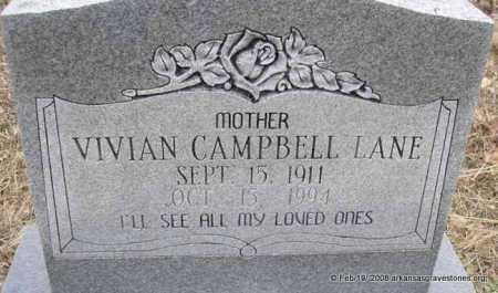 CAMPBELL LANE, VIVIAN - Scott County, Arkansas | VIVIAN CAMPBELL LANE - Arkansas Gravestone Photos