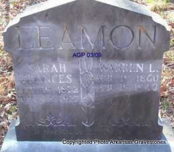 LEAMON, WARREN L - Scott County, Arkansas | WARREN L LEAMON - Arkansas Gravestone Photos