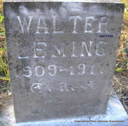 LEMING, WALTER - Scott County, Arkansas | WALTER LEMING - Arkansas Gravestone Photos