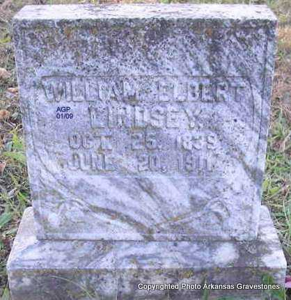 LINDSEY, WILLIAM ELBERT - Scott County, Arkansas | WILLIAM ELBERT LINDSEY - Arkansas Gravestone Photos