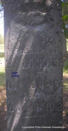 LOCKETT, R  W - Scott County, Arkansas | R  W LOCKETT - Arkansas Gravestone Photos