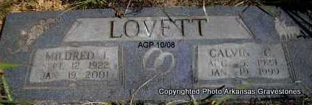 LOVETT, CALVIN C - Scott County, Arkansas | CALVIN C LOVETT - Arkansas Gravestone Photos