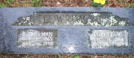 LOWRIMORE, P SHERMAN - Scott County, Arkansas | P SHERMAN LOWRIMORE - Arkansas Gravestone Photos