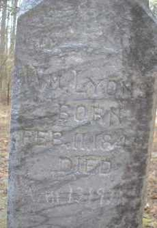 LYONS, WM - Scott County, Arkansas | WM LYONS - Arkansas Gravestone Photos