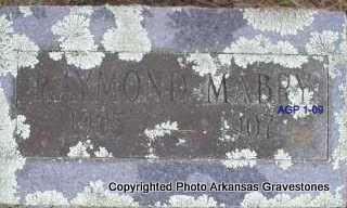 MABRY, RAYMOND - Scott County, Arkansas | RAYMOND MABRY - Arkansas Gravestone Photos