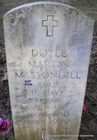 MASSONGILL  (VETERAN 2 WARS), DOYLE MARTIN - Scott County, Arkansas | DOYLE MARTIN MASSONGILL  (VETERAN 2 WARS) - Arkansas Gravestone Photos