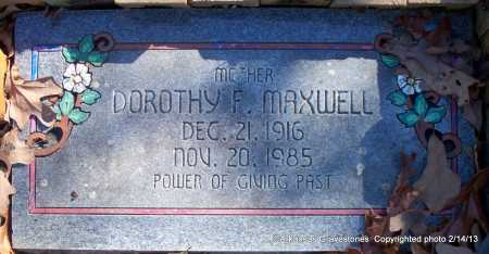 MAXWELL, DOROTHY F - Scott County, Arkansas | DOROTHY F MAXWELL - Arkansas Gravestone Photos
