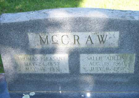 MCCRAW, SALLIE ADELINE - Scott County, Arkansas | SALLIE ADELINE MCCRAW - Arkansas Gravestone Photos