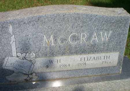 MCCRAW, ELIZABETH - Scott County, Arkansas | ELIZABETH MCCRAW - Arkansas Gravestone Photos