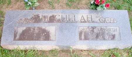 MCCULLAH, MARY ELIZABETH - Scott County, Arkansas | MARY ELIZABETH MCCULLAH - Arkansas Gravestone Photos