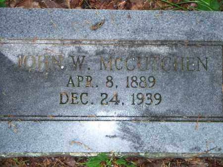 MCCUTCHEN, JOHN W - Scott County, Arkansas | JOHN W MCCUTCHEN - Arkansas Gravestone Photos