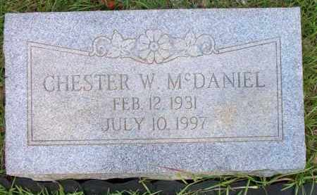 MCDANIEL, CHESTER W - Scott County, Arkansas | CHESTER W MCDANIEL - Arkansas Gravestone Photos