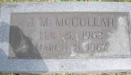 MCCULLAH, J  M - Scott County, Arkansas | J  M MCCULLAH - Arkansas Gravestone Photos