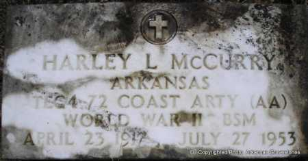 MCCURRY  (VETERAN WWII), HARLEY L - Scott County, Arkansas | HARLEY L MCCURRY  (VETERAN WWII) - Arkansas Gravestone Photos
