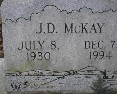 MCKAY, J  D - Scott County, Arkansas | J  D MCKAY - Arkansas Gravestone Photos
