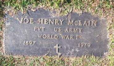 MCLAIN (VETERAN WWI), JOE HENRY - Scott County, Arkansas | JOE HENRY MCLAIN (VETERAN WWI) - Arkansas Gravestone Photos