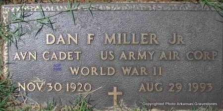 MILLER, JR  (VETERAN WWII), DAN F - Scott County, Arkansas | DAN F MILLER, JR  (VETERAN WWII) - Arkansas Gravestone Photos