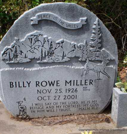 MILLER, BILLY ROWE - Scott County, Arkansas | BILLY ROWE MILLER - Arkansas Gravestone Photos