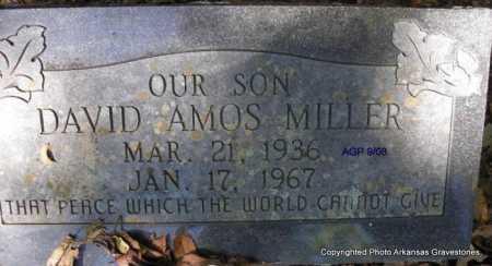 MILLER, DAVID AMOS - Scott County, Arkansas | DAVID AMOS MILLER - Arkansas Gravestone Photos