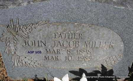 MILLER, JOHN JACOB - Scott County, Arkansas | JOHN JACOB MILLER - Arkansas Gravestone Photos
