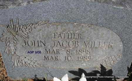 MILLER, JOHN JACOB - Scott County, Arkansas | JOHN JACOB MILLER - Arkansas Gravestone Photos