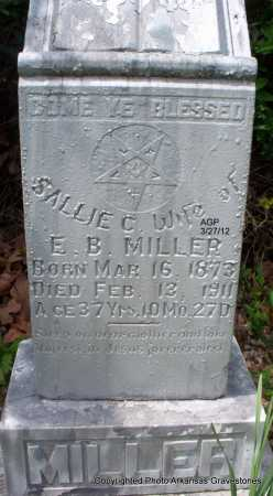 MILLER, SARAH AKA SALLIE - Scott County, Arkansas | SARAH AKA SALLIE MILLER - Arkansas Gravestone Photos