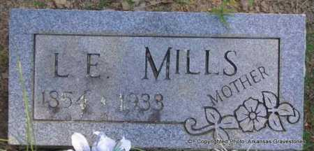 MILLS, L  E - Scott County, Arkansas | L  E MILLS - Arkansas Gravestone Photos