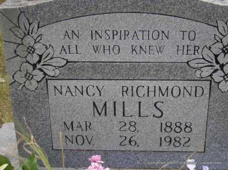 MILLS, NANCY - Scott County, Arkansas | NANCY MILLS - Arkansas Gravestone Photos