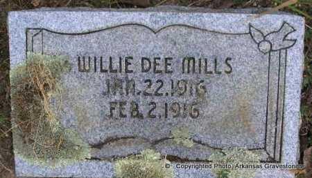 MILLS, WILLIE DEE - Scott County, Arkansas | WILLIE DEE MILLS - Arkansas Gravestone Photos
