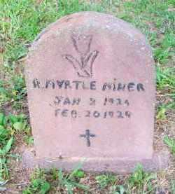 MINER, R  MYRTLE - Scott County, Arkansas | R  MYRTLE MINER - Arkansas Gravestone Photos