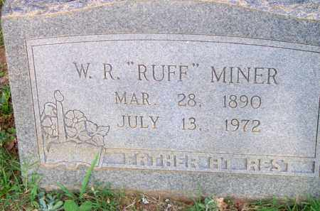"MINER, W  R  ""RUFF"" - Scott County, Arkansas 