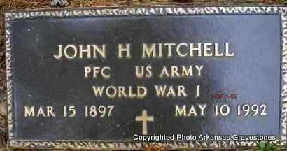 MITCHELL  (VETERAN WWI), JOHN H - Scott County, Arkansas | JOHN H MITCHELL  (VETERAN WWI) - Arkansas Gravestone Photos