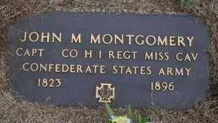 MONTGOMERY  (VETERAN CSA), JOHN M - Scott County, Arkansas | JOHN M MONTGOMERY  (VETERAN CSA) - Arkansas Gravestone Photos