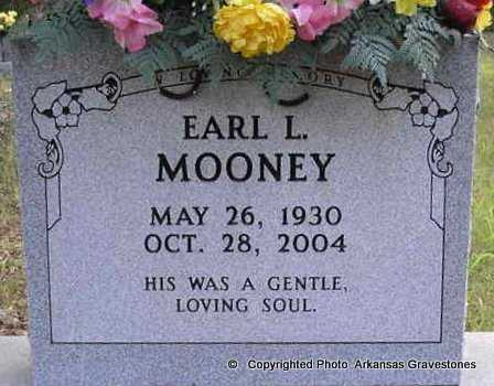 MOONEY, EARL L - Scott County, Arkansas | EARL L MOONEY - Arkansas Gravestone Photos